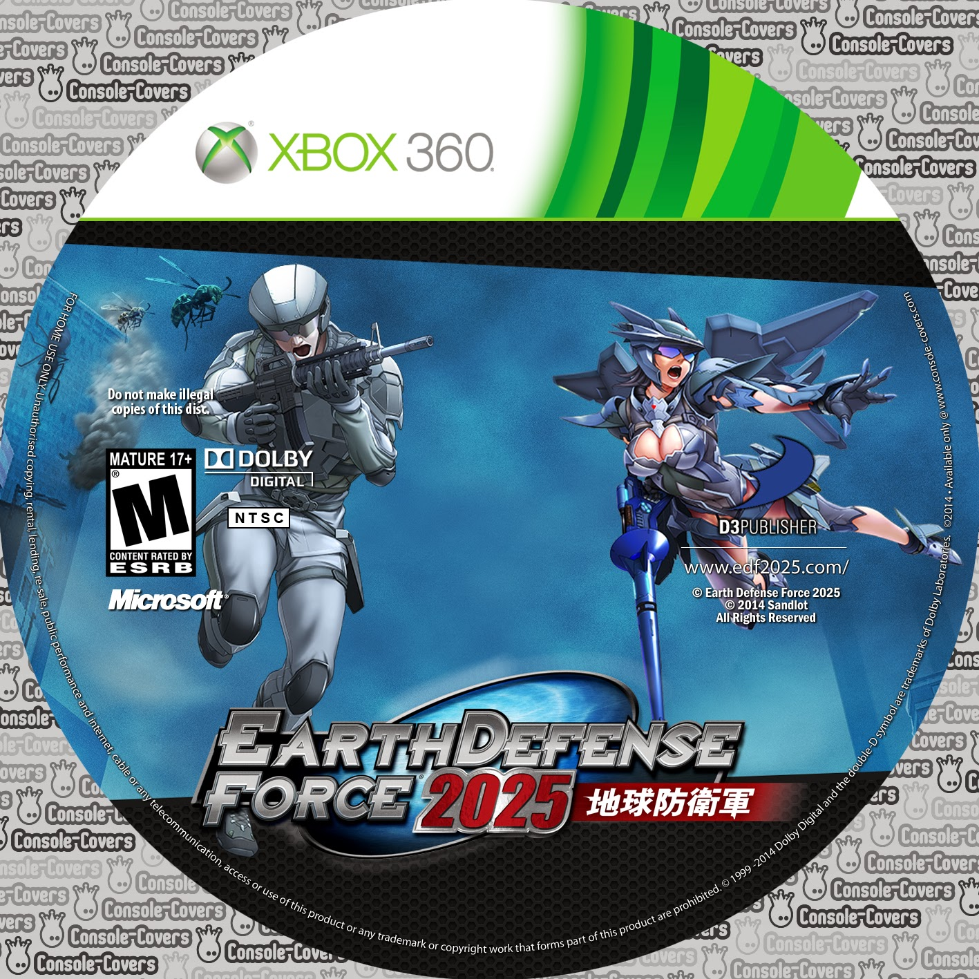 Capa Earth Defense Force 2025 XBOX 360