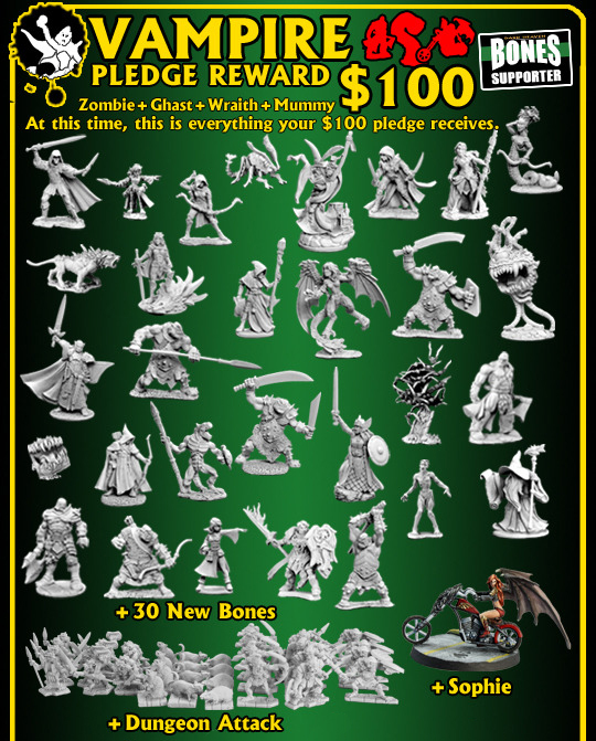 Reaper Bones Kickstarter Campaign Old Vampire Level