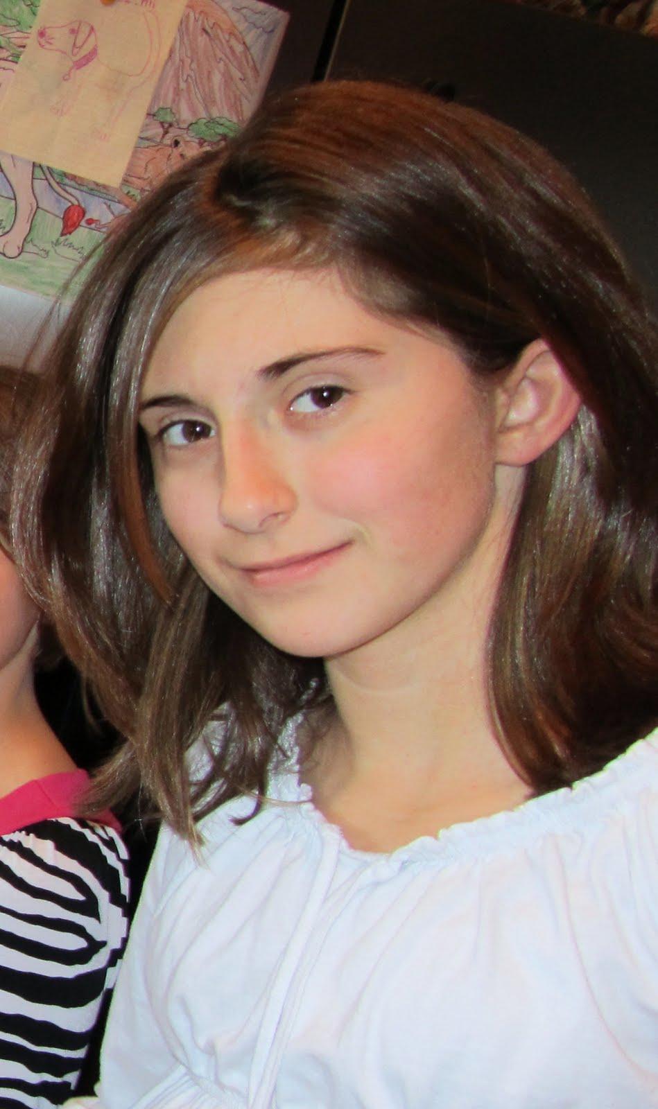 Meet Maranda, age 12, my sister's oldest daughter, my first niece