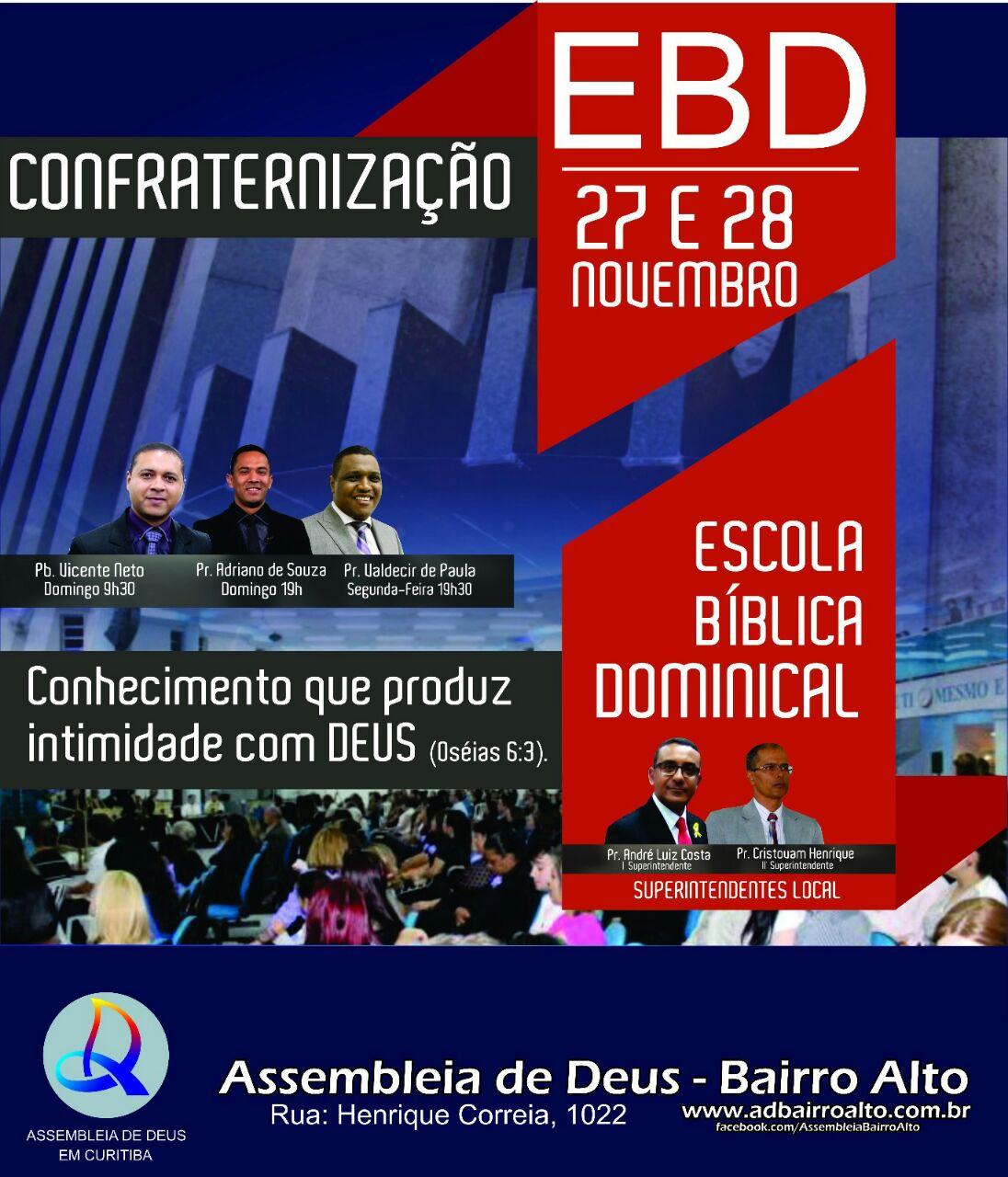 Próximo evento de EBD