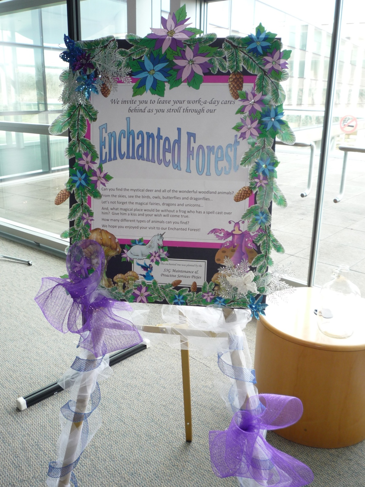 This Year Our Theme Was Enchanted Forest I Put My Papercraft Skills To Work On The Poster And Tree Full Of Both Woodland Magical Animals
