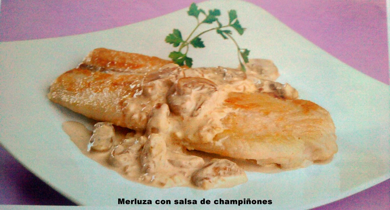 Merluza Con Salsa De Champiñones