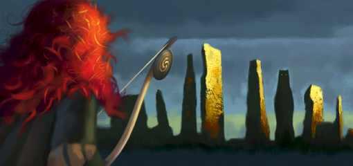 pixar brave concept art. plot and the concept art.