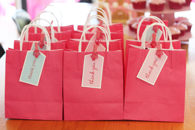 Birthday Goody Bags on Pink Fairy Princess Birthday Party Goodie Bags