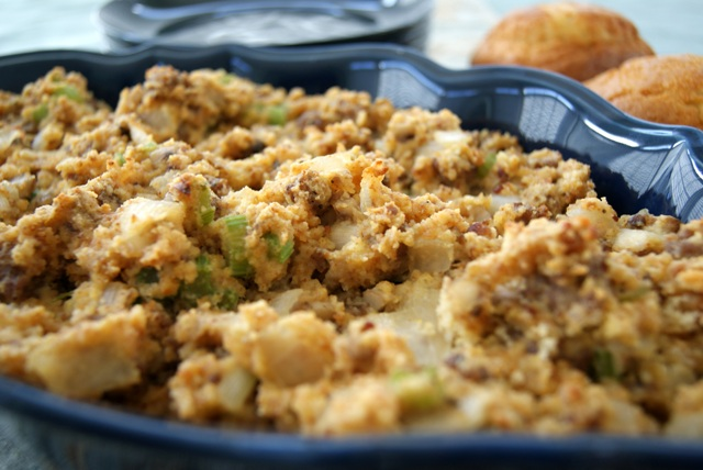 Alice and the Mock Turtle: Savory and Sweet Corn Bread Stuffing