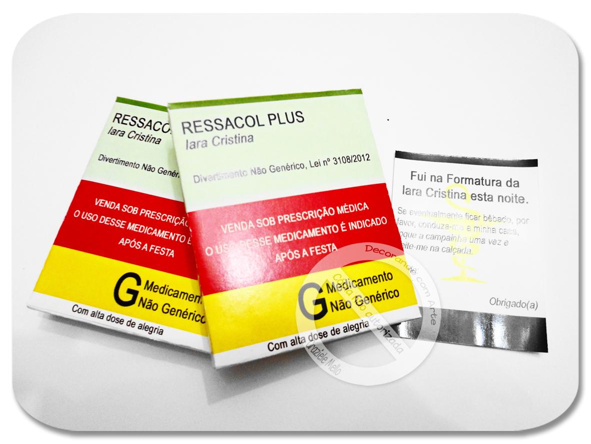 Kit Ressaca Lembrança de Formatura de Farmácia #C4B507 1181 886