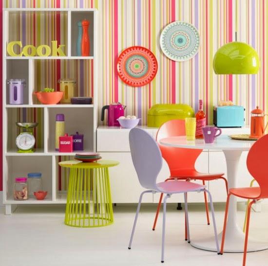 Cocinas modernas y coloridas