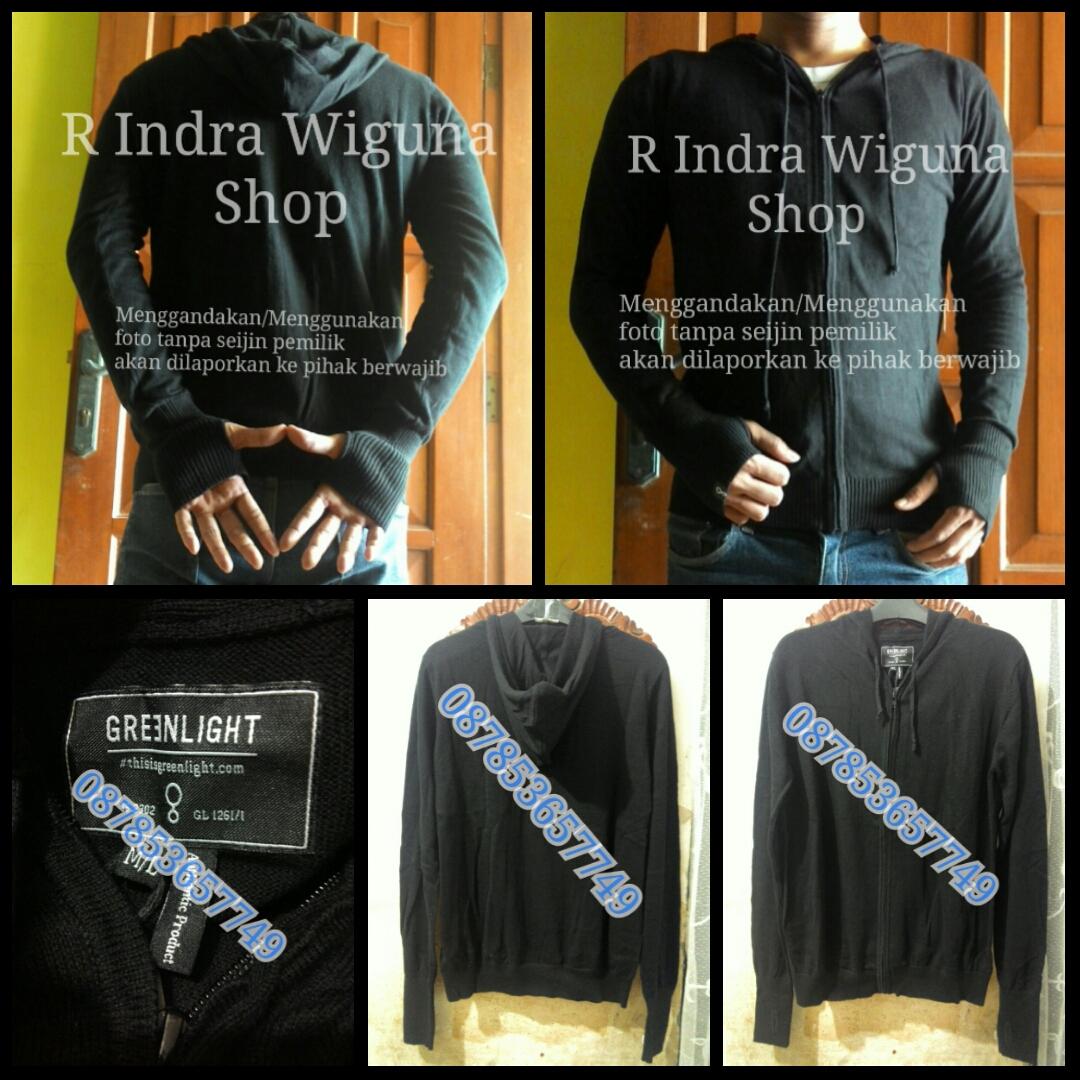 Jaket Sweater Rajut Ariel Knite Hoodie Greenlight Original Asli Dengan Pria Banyak Warna Disini Saya Menjual Hitam Dan Abu Bahan Katun Elastis Size S M L