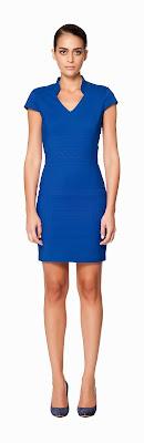 mavi dik yaka elbise kısa elbise