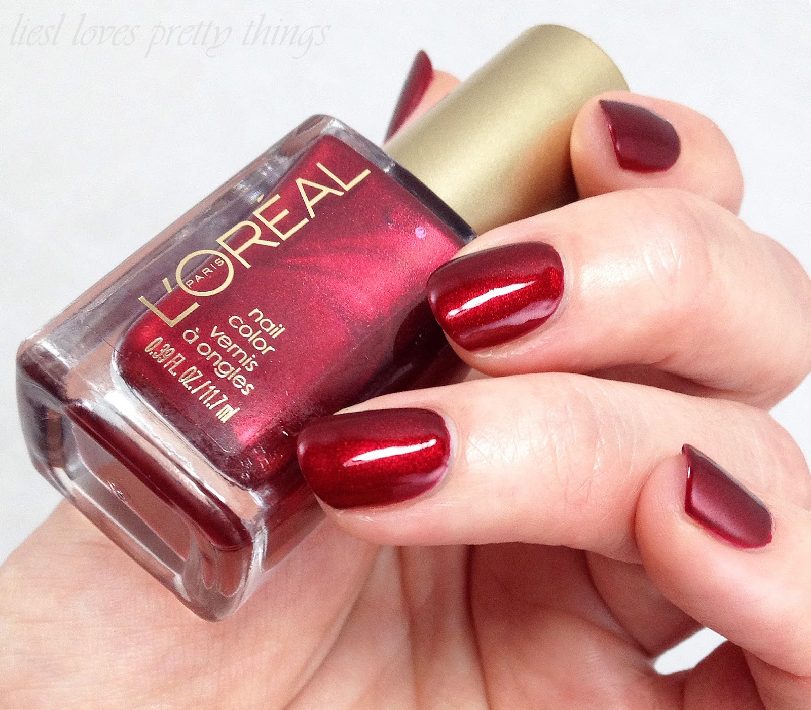 L'Oreal Sparkling Soirée Holiday 2014-- Bring The Rubies swatch and review