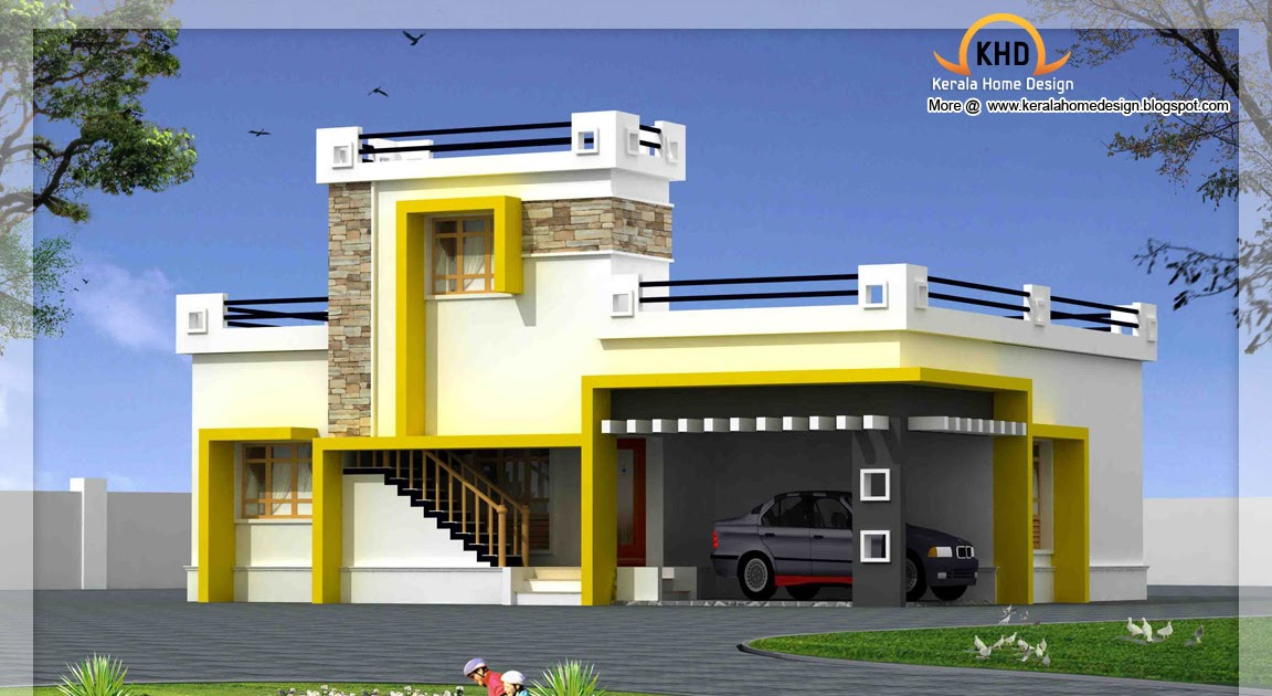Single Floor Elevation Plan : Single floor house elevation sq ft kerala home