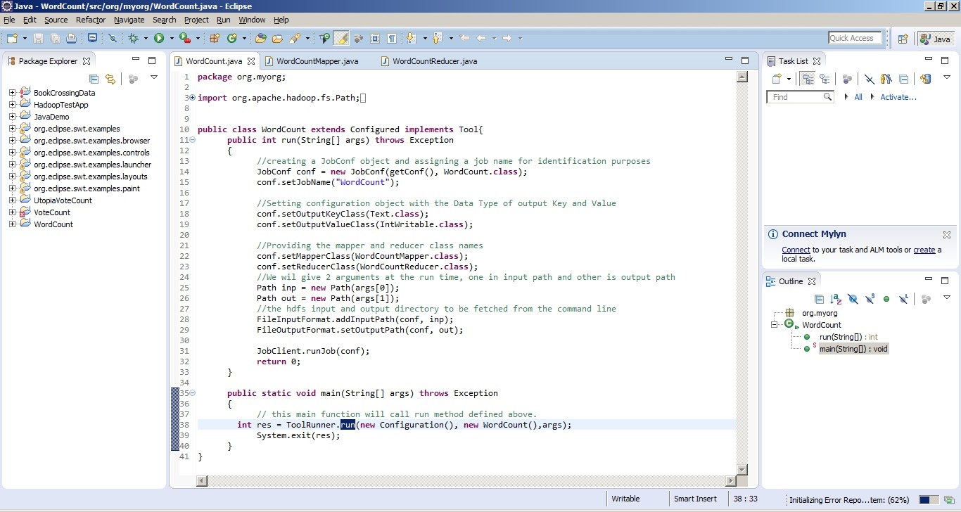 How to write the first map reduce program in java using horton posted 9th september 2015 by mani kumar baditri Image collections