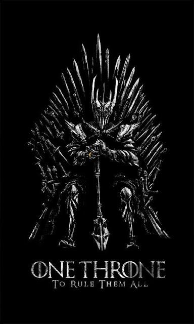 Sauron trono de hierro - Juego de Tronos en los siete reinos