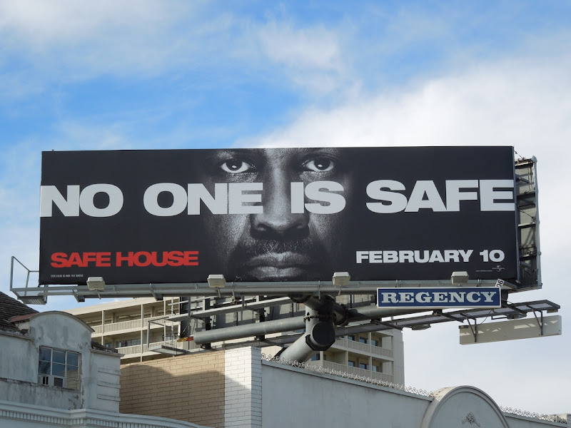 Denzel Washington Safe House billboard