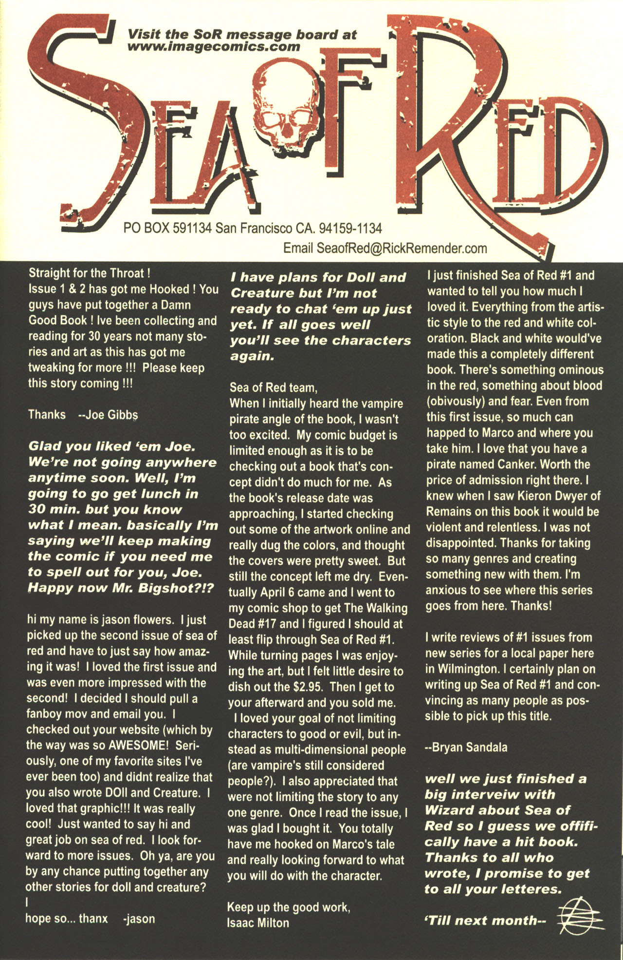 Read online Sea of Red comic -  Issue #3 - 27