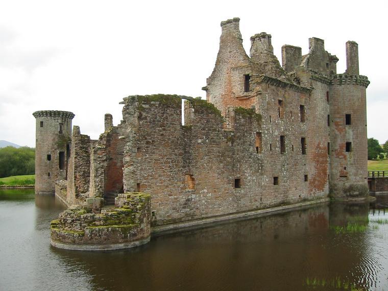 beautiful Caerlaverock Castle