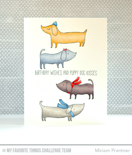 Puppy Dog Kisses Card by Miriam Prantner featuring the Top Dog stamp set #mftstamps