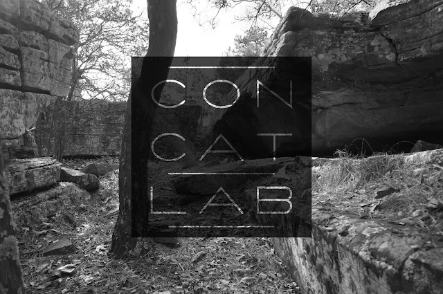 b&w nature photo with black concatlab 3x3 grid logo