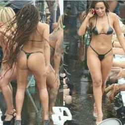 Anitta Rebolando de Biquíni em Gravação de Clipe