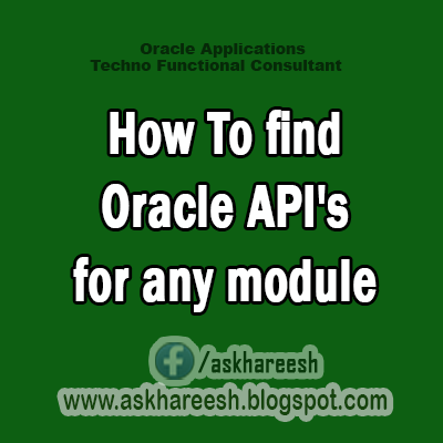 How To find Oracle API's for any module?
