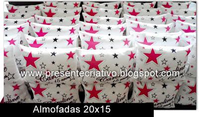 Almofadas personalizadas com tema estrela