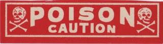 veneno en color rojo indicando peligro