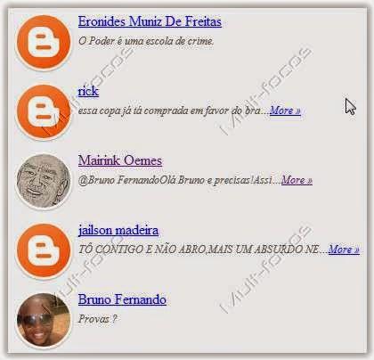 Como adicionar widget comentários recentes com avatar para Blogger