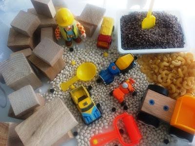 sensory bin building