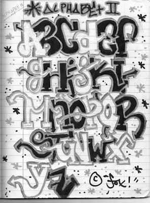 Graffiti alphabet ii blackbook fox az graffiti letters black and