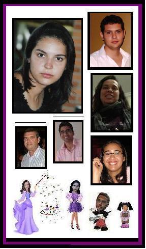 Aninha, Maressa, Leon, Davi, Marina, Margarete, Nina, Rafaela, Clézio e Jorge.