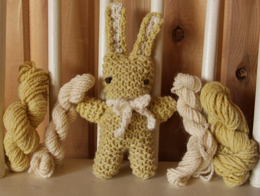 Easy Rabbit Knitting Pattern : Plain and Joyful Living: Simple Hand Knit Bunny Pattern