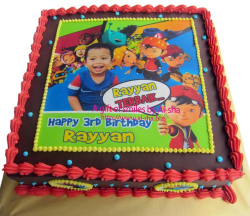 Birthday Cake Edible Image Boboiboy Ai-sha Puchong Jaya