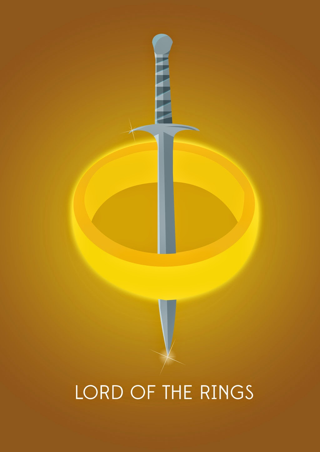 Minimalist Movie Posters Lord of the Rings