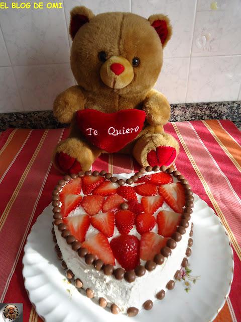 """Tarta De Fresas """"san Valentin"""""""