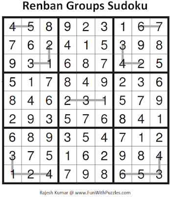 Renban Groups Sudoku (Fun With Sudoku #96) Solution