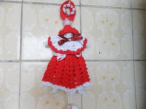 boneca para colocar pano de pratos