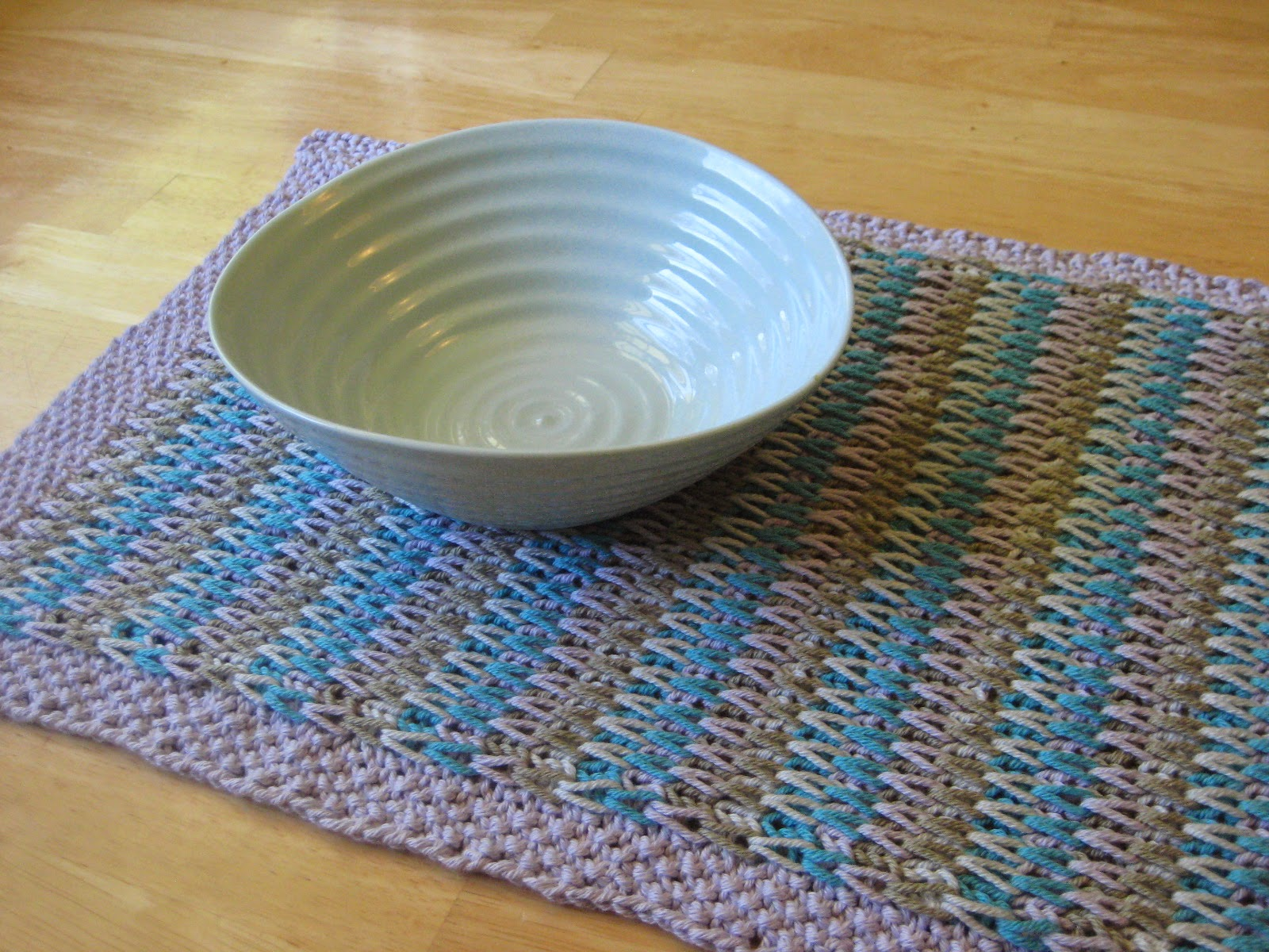 Balls to the Walls Knits: Long-Slip Striped Table Runner