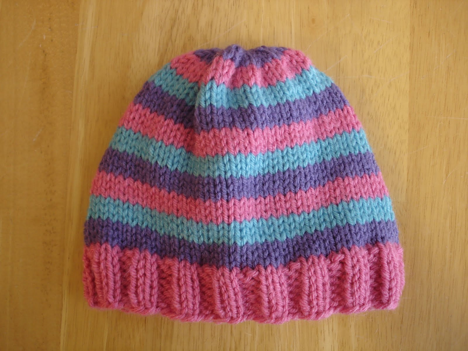 Free Knitting Patterns For Toddler Hats On Straight Needles : Fiber Flux: Free Knitting Pattern...Super Pink Toddler Hat!