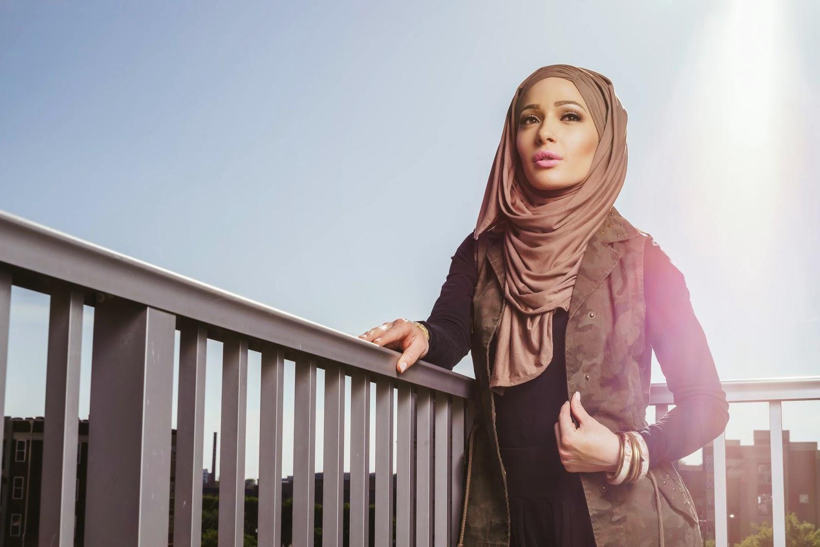 Idée tenue hijab hiver