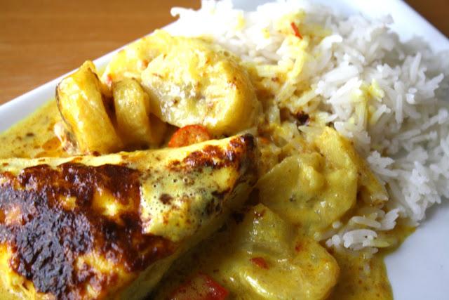 indonesisk kylling, banan, kylling med banan