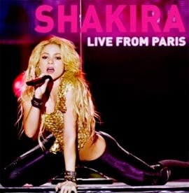 Modelo Capa Download   Shakira   Live from Paris (2011)