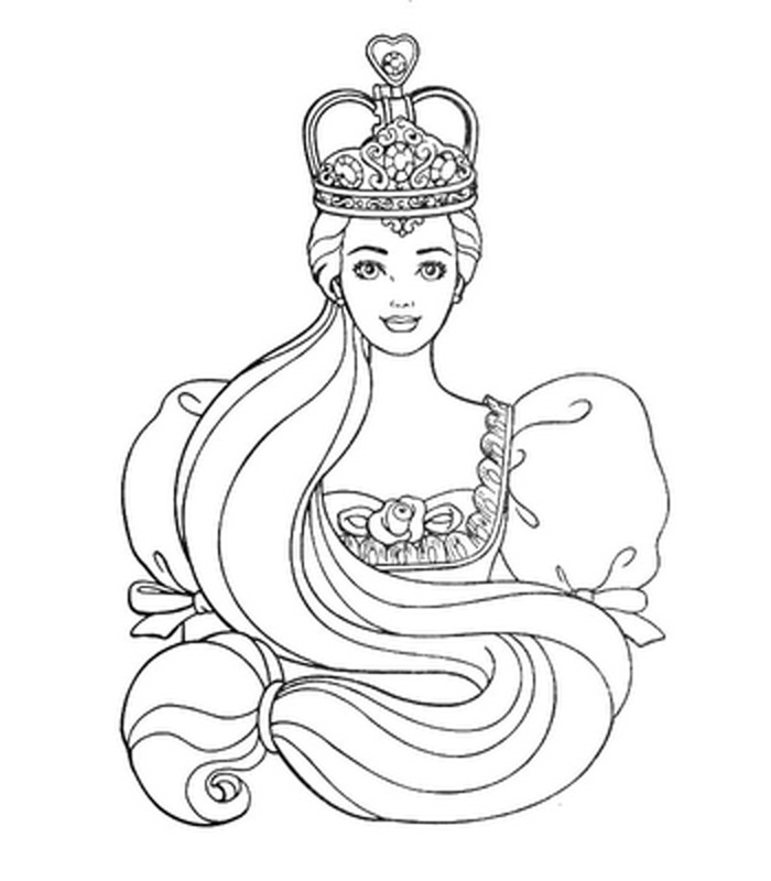 FREE COLORING PICTURES OF BARBIE TO PRINT AND COLOR title=