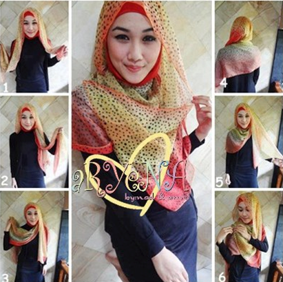 tutorial hijab sifon