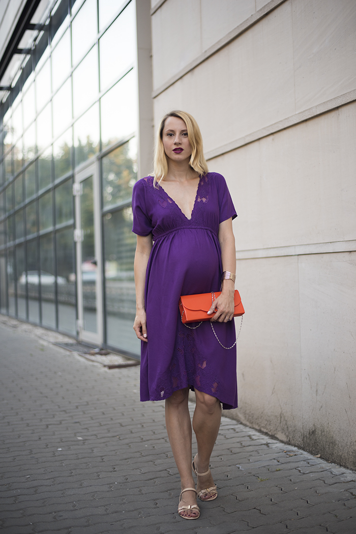 Skinny Buddha Zara purple dress maternity