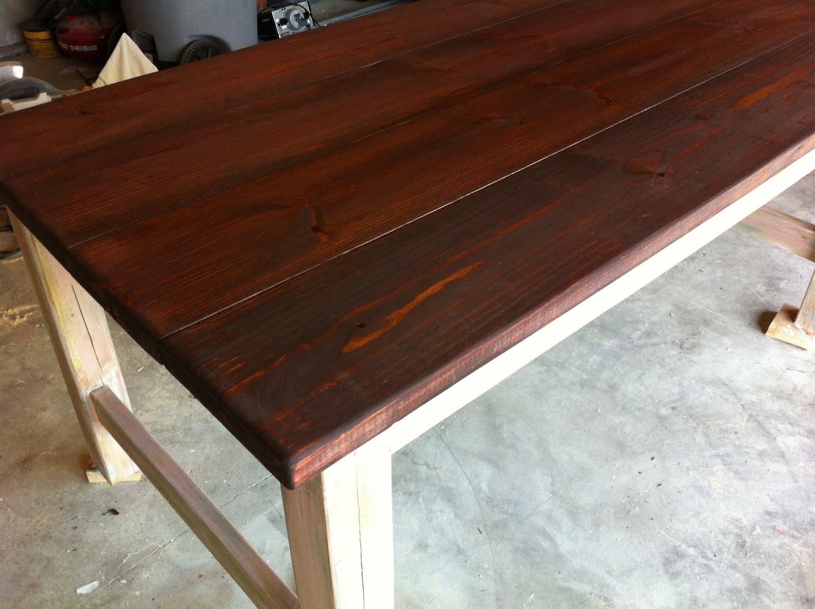 diy rustic farmhouse table finish