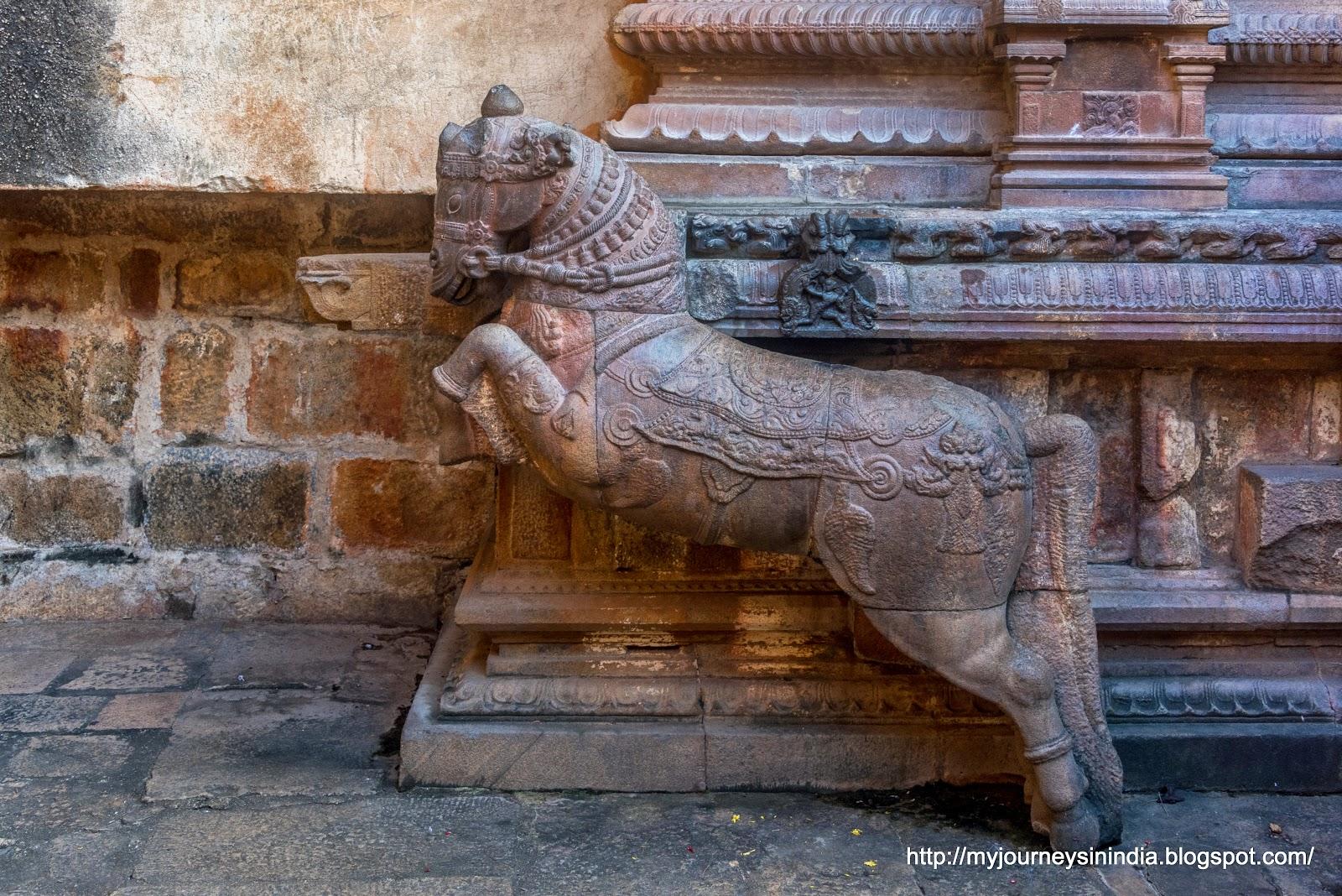 Thanjavur Brihadeeswarar Temple Horse