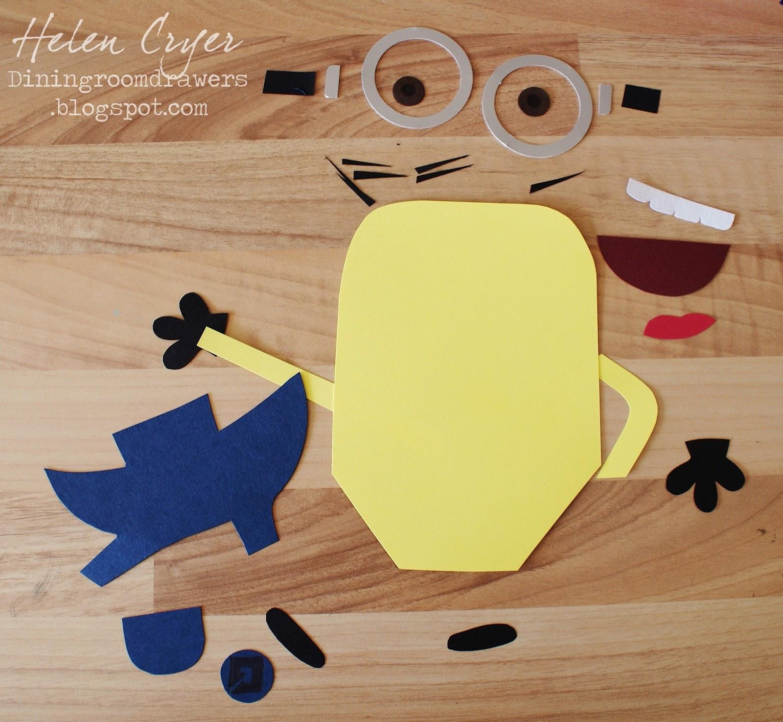 The Dining Room Drawers Sizzix Pop N Cuts Minion Card