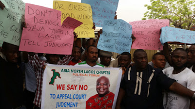 """""""We were hired to protest against Alex Otti in Lagos!"""" Group Exclaims"""
