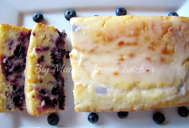 The Country Cook: Lemon Blueberry Cake