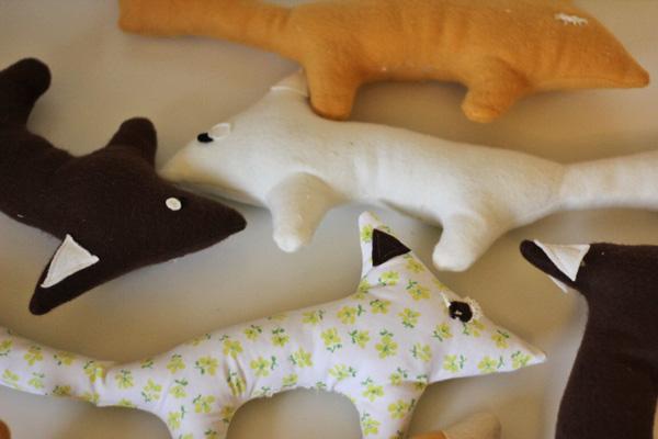felt toys: boxy fox pattern + tutorial